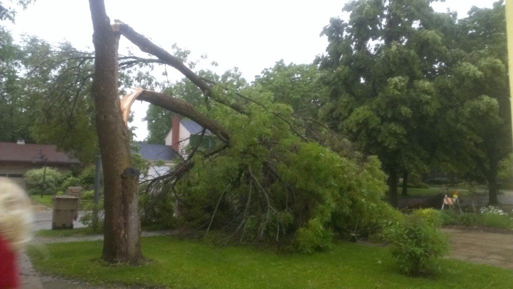 Storm damage reported; severe weather may continue into Friday