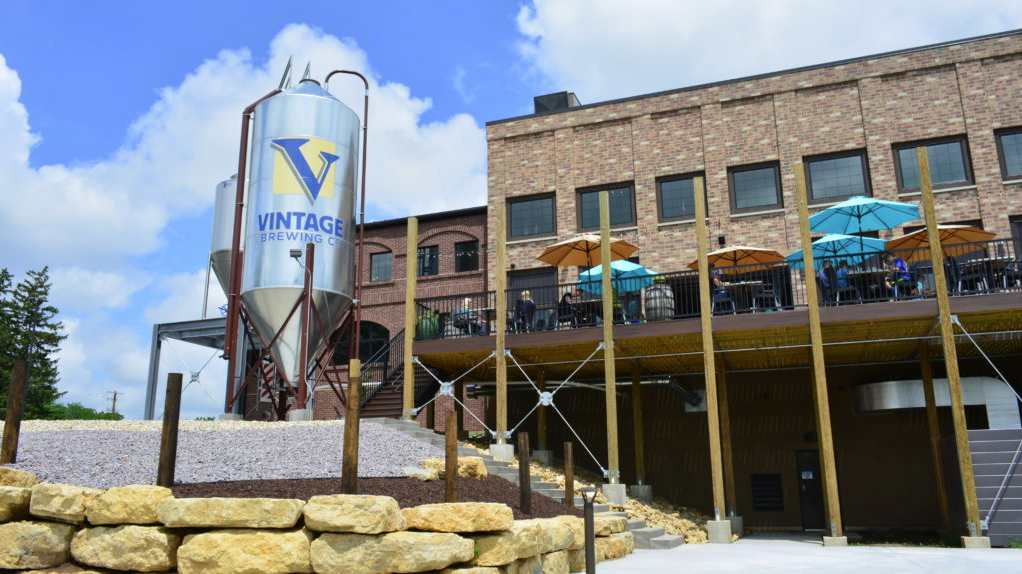 front of vintage brewing co