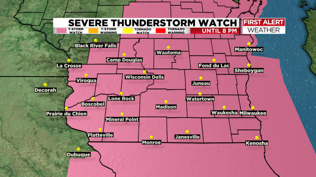 Alert Day: Severe T-storm could bring 60 mph winds, hail