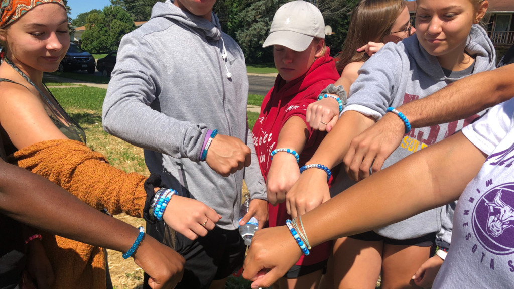 Celebrating their friend: Verona students make bracelets honoring homicide victim Shay Watson