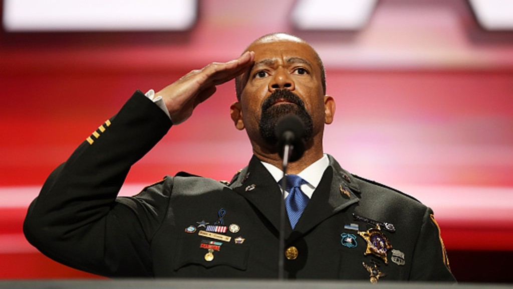 Milwaukee's outspoken Sheriff Clarke hasn't ruled out US Senate run