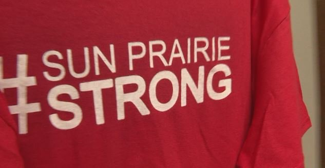 'We are absolutely thrilled to be a part of that': #SunPrairieStrong T-shirt sales through the roof
