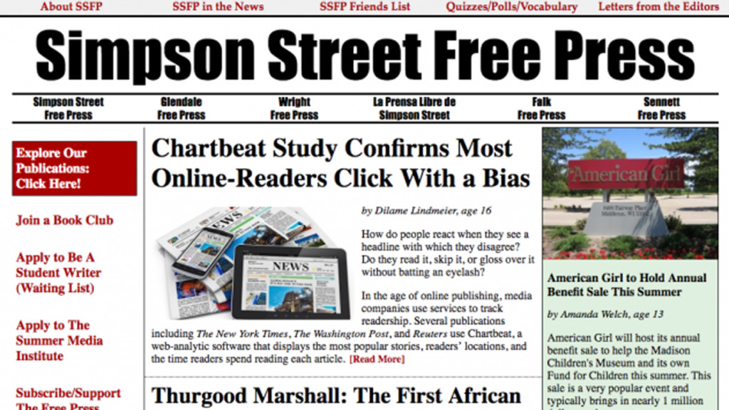 25 years in, Simpson Street Free Press continues to 'spark academic achievement'