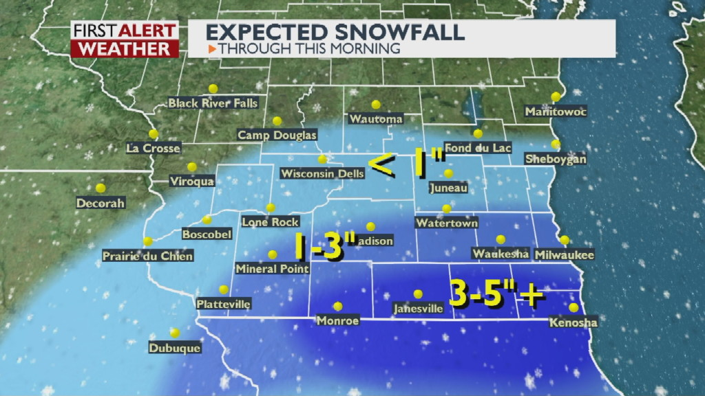Several crashes reported as snow affects morning commute again