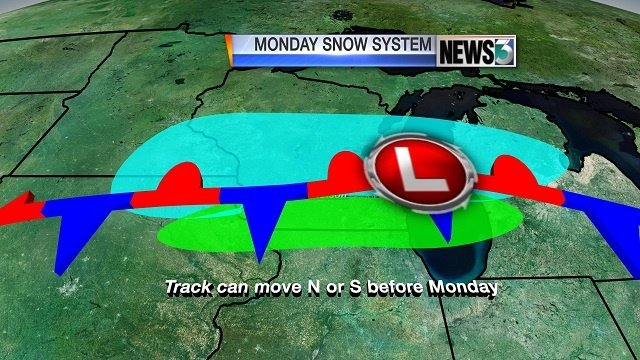 First 'major snowstorm' could come Monday