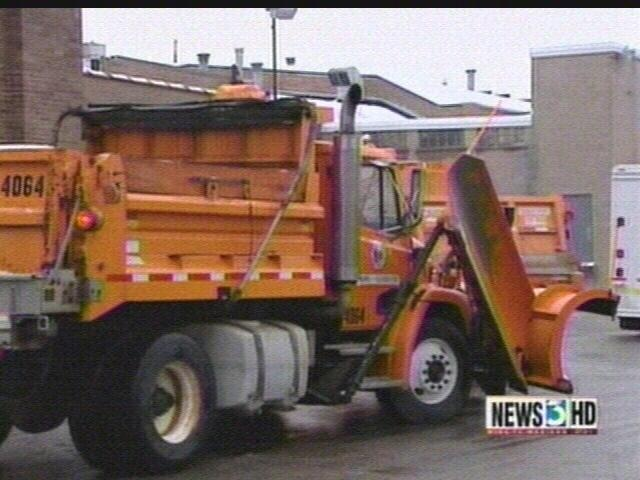 Crews clear overnight snow