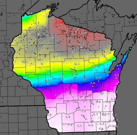 Another round of snow hits northern Wisconsin