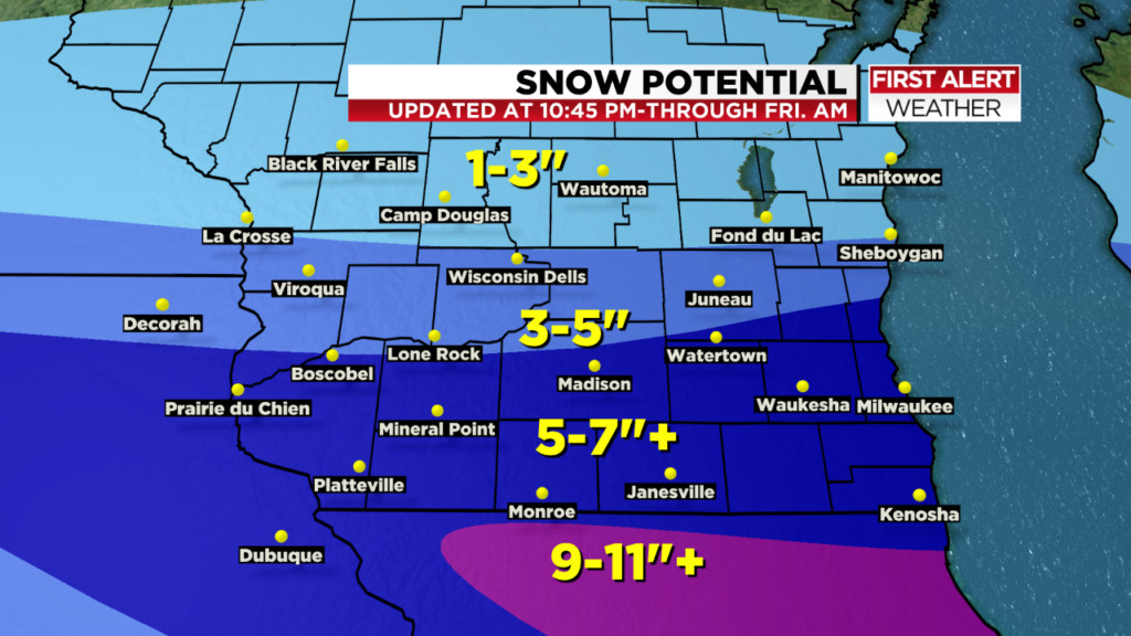 Winter storm spreads snow throughout southern Wisconsin