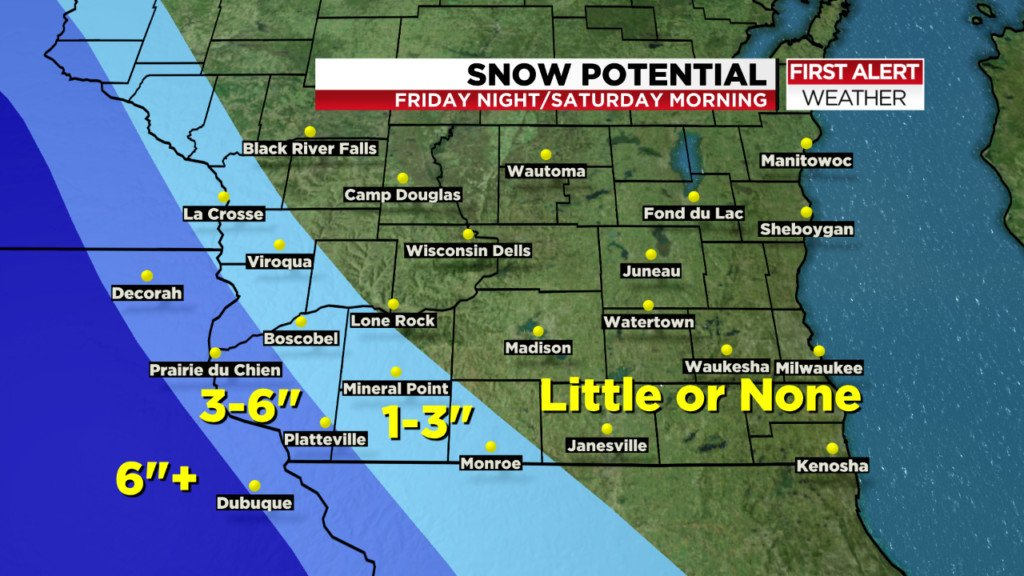 Developing winter storm could hit southwestern Wisconsin Friday night