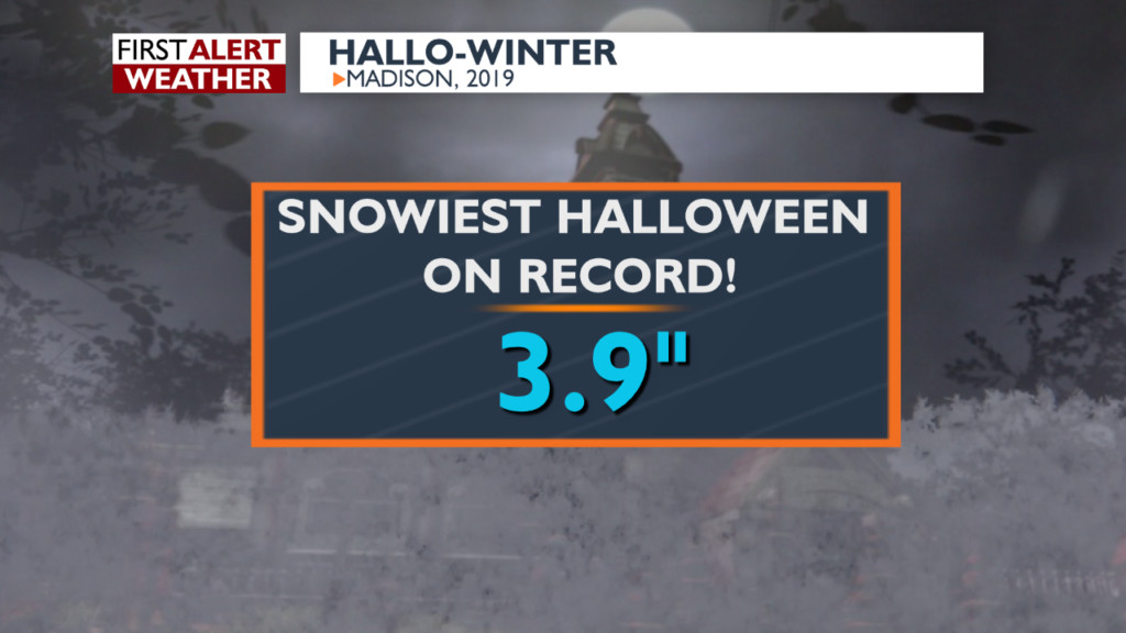 October 2019 snowiest October on record for Madison