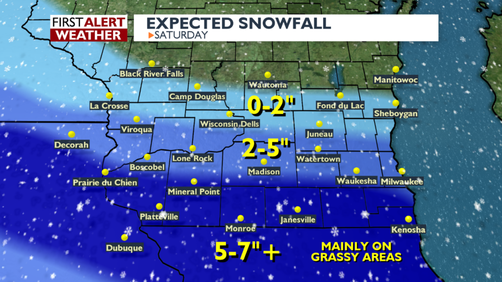 Storm track shifts slightly south, heavy snow still moving in.