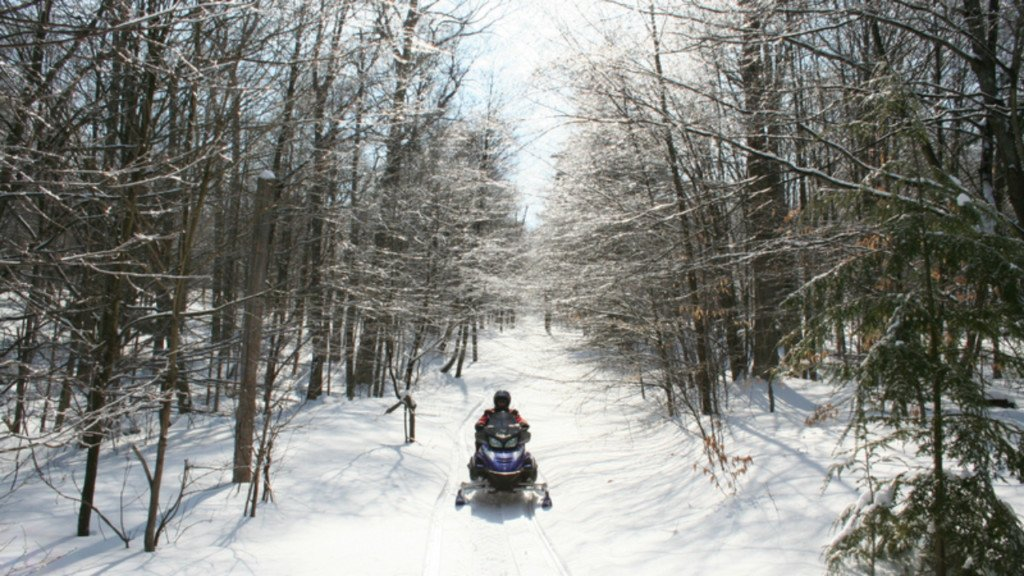 A generic snow mobile photo