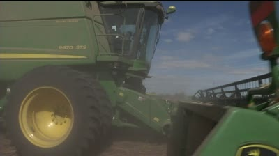 Soybean harvest down from drought