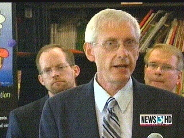 Evers makes pitch for more school aid