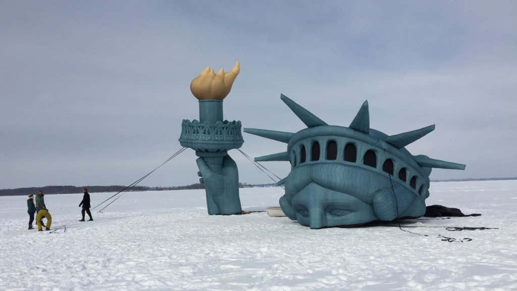 Lady Liberty on Lake Mendota