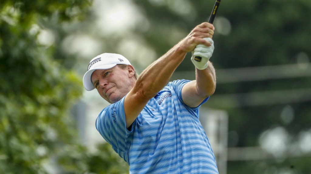 Stricker falls to three-way tie for third at Bridgestone Senior Players Champs