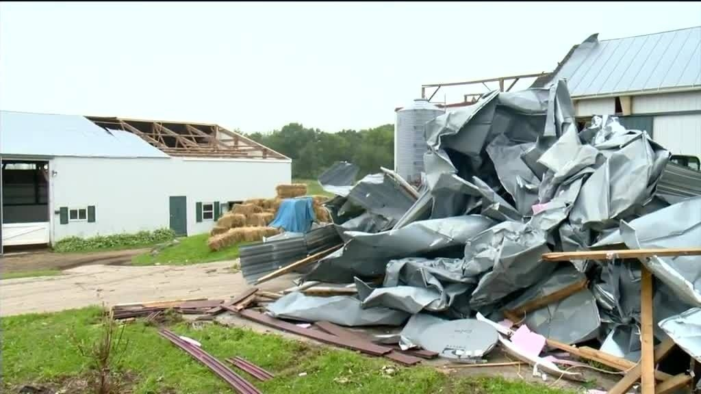 Relief effort underway for horse facility hit by storm