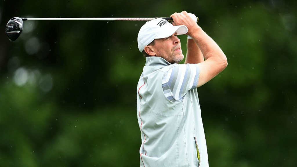 Stricker leads AmFam after first round