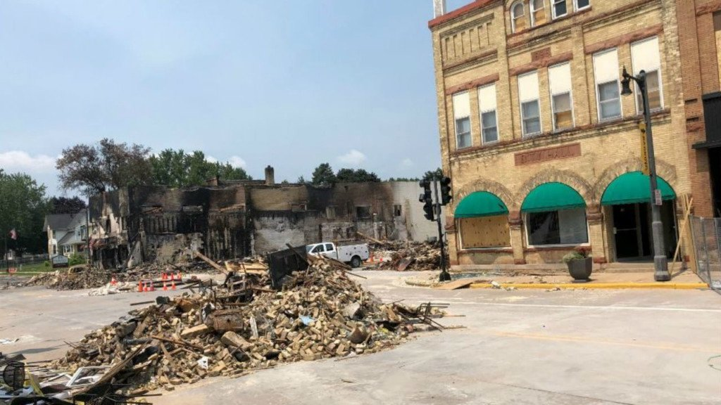 sun prairie town hall after explosion