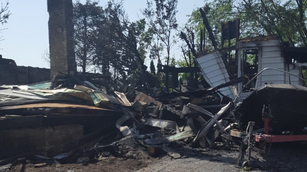 'It's not just the clothes on my back, it's the memories': Woman loses her home in explosion