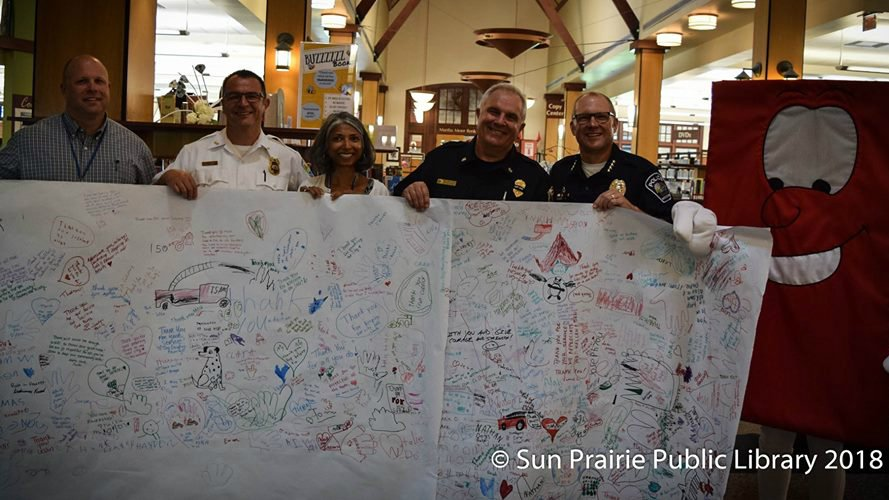 Sun Prairie first responders collect 8 pages of handwritten notes