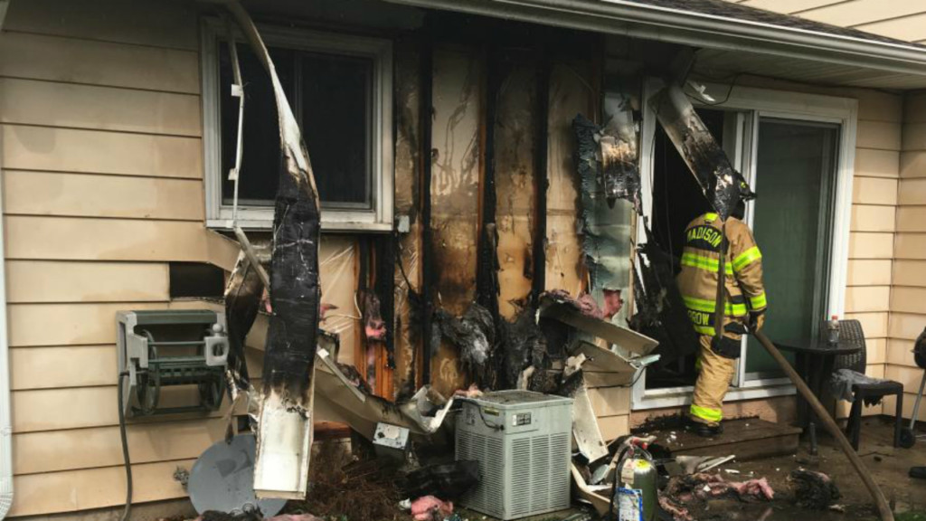 East side duplex fire caused by improper handling of grilling materials