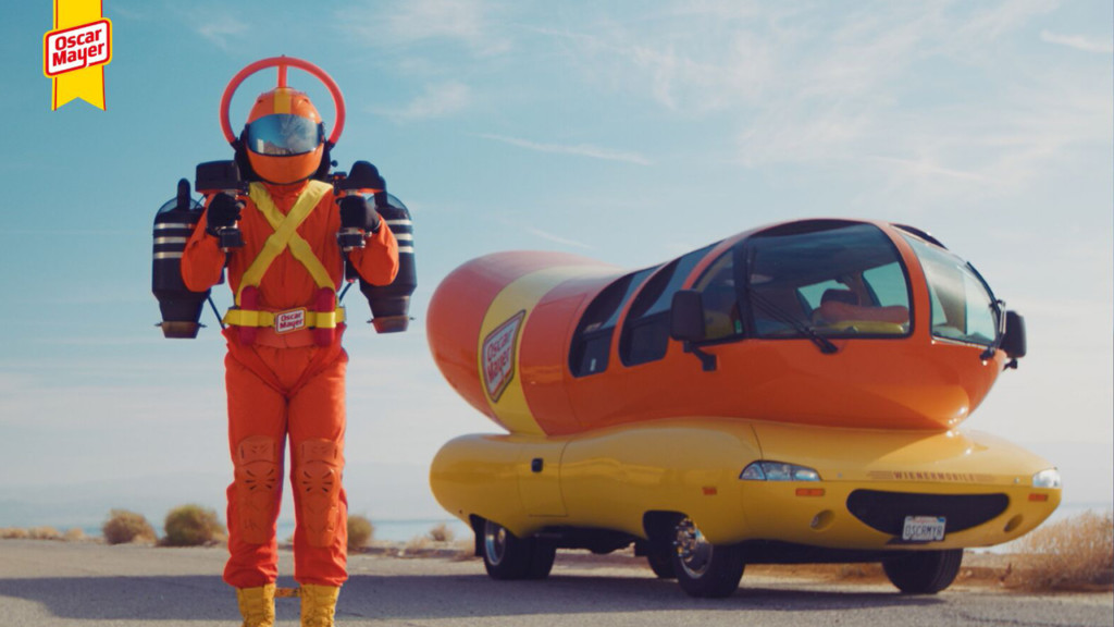 Oscar Mayer introduces an aerial hot dog delivery man
