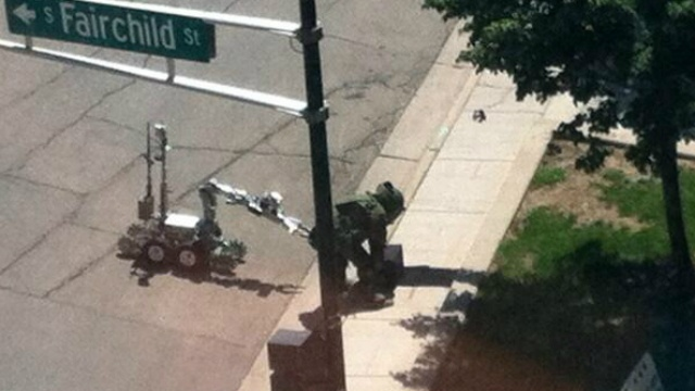 Suspicious object shut down downtown intersection