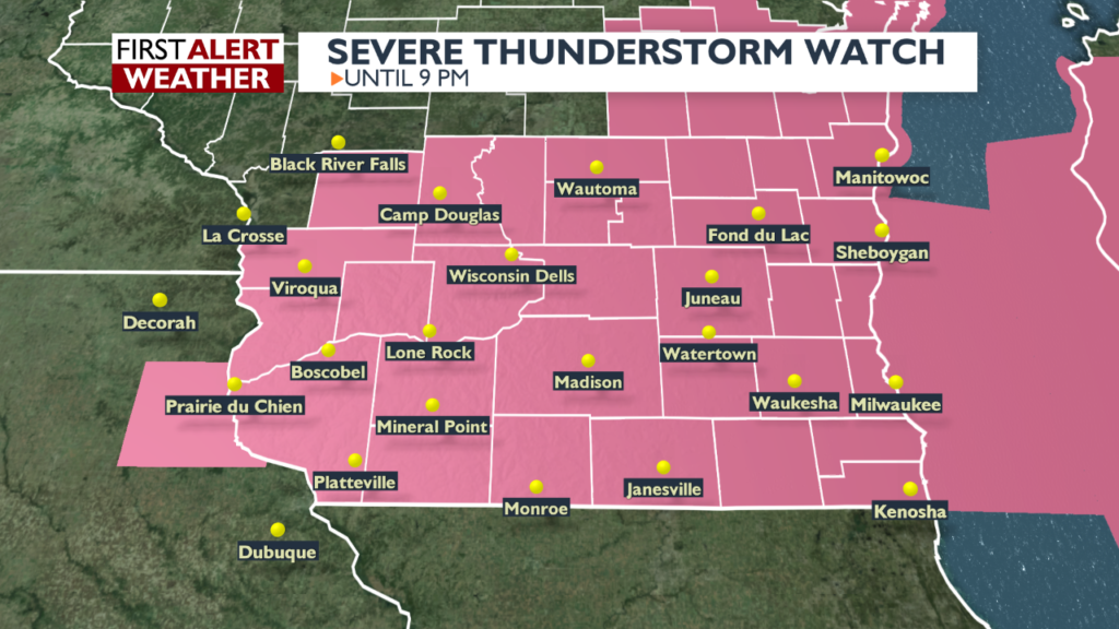 Severe weather expected across southern Wisconsin