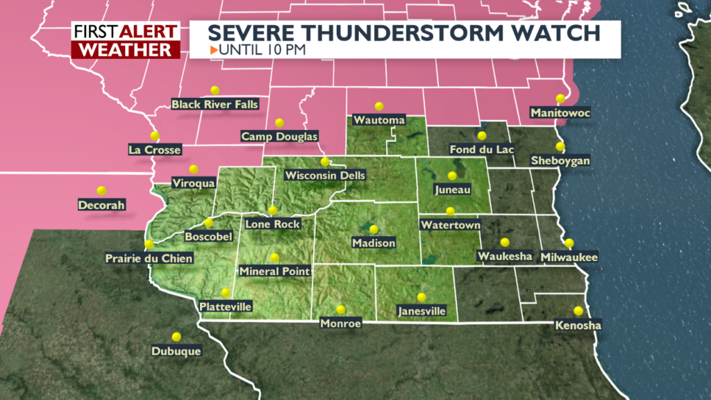 Much of central Wisconsin under threat of severe thunderstorms