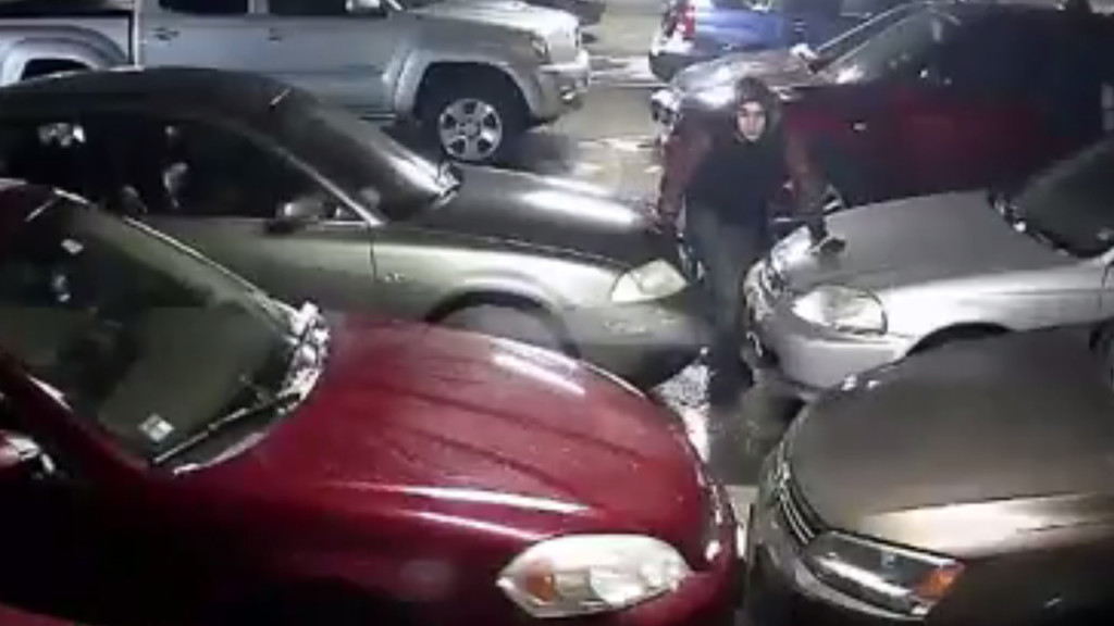 Video shows men wanted for thievery from parked cars