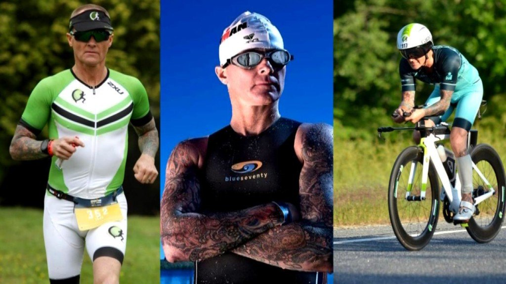 'Living a life you never thought possible': Triathlon athlete and former addict carries message
