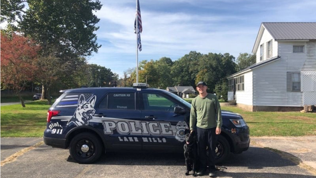 Lake Mills K-9 passes certification, prepares for patrol