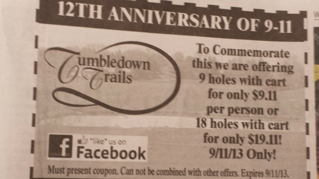 Golf course has run 9/11 promotion for 3 years