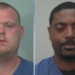 PD: Officer sees chair fly through air, 2 men fighting arrested