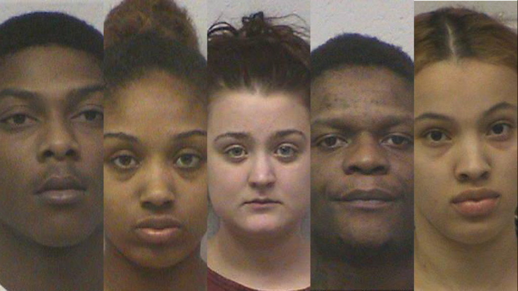 5 arrested, 3 at large after Monroe Radio Shack burglary, 2-county chase