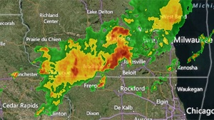 Severe thunderstorms roll through southern Wisconsin