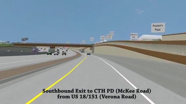 DOT video shows drive down Verona Road in 2019