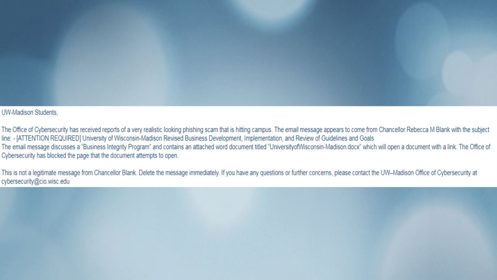 UW students face concerns about phishing scam emails