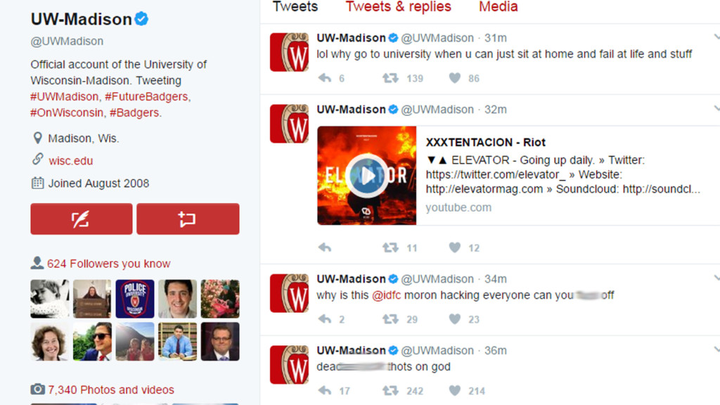 UW-Madison Twitter account hacked