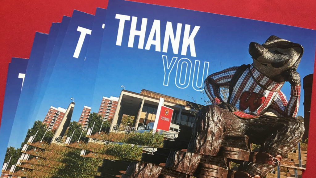 UW Madison's Alumni Park honors veterans, hosts drop-in letter writing project