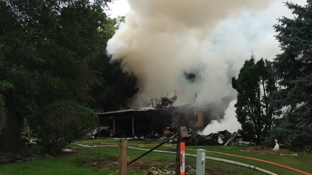 Explosion destroys house in Vernon County