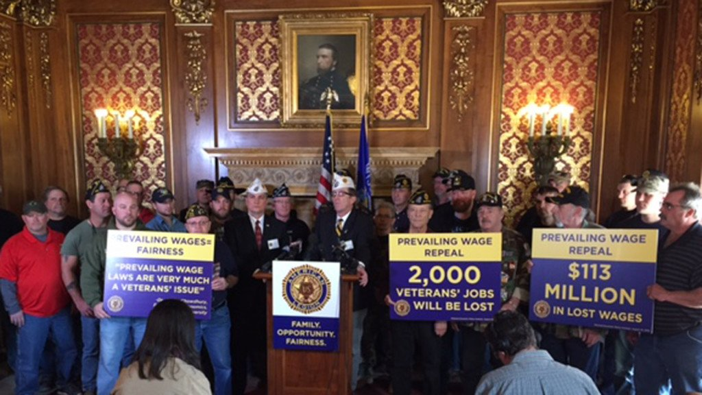 Veterans warn eliminating prevailing wage will cost jobs
