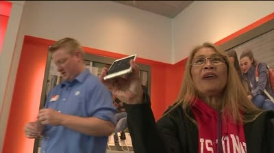 Same woman first in line for iPhone 6 as last year's iPhone 5S launch