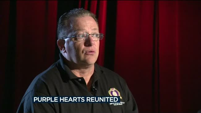 Veteran helps reunite Purple Hearts with military families