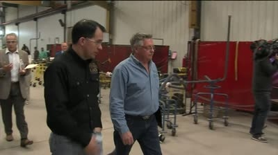 Walker hits campaign trail before Election Day