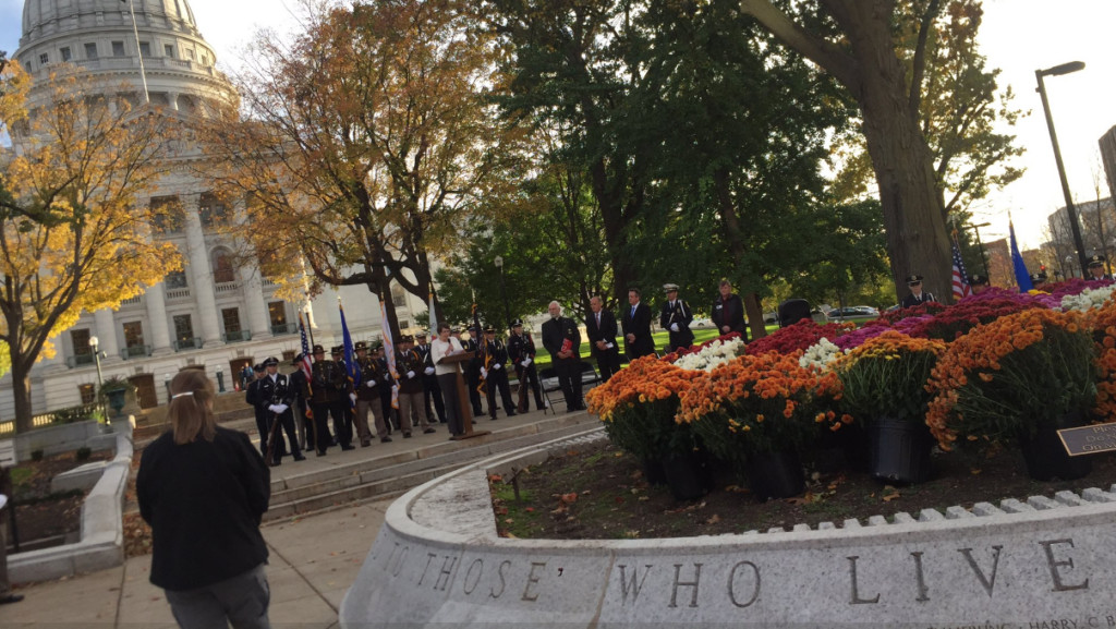 Vigil hosted outside Capitol to support officers following vandalism