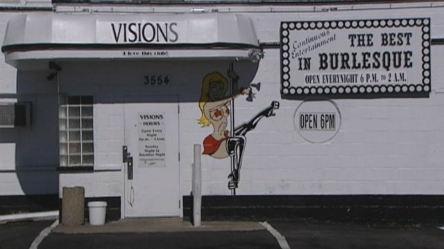 Visions Nightclub sign back up, causing legal action