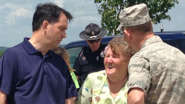 Walker surveys storm damage to see if state qualifies for aid