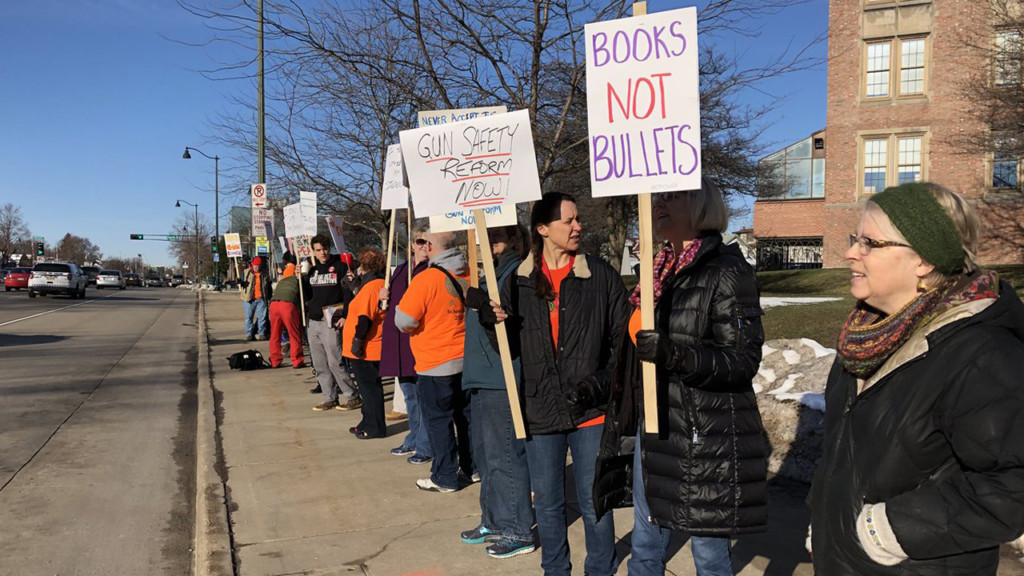 Madison teachers march to Capitol to continue students' call for gun reform